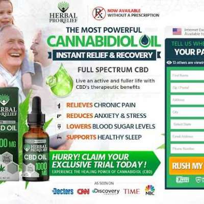 Herbal Pro Relief CBD (Trial)– Relieves Stress, Pain & Discomfort Easily! Profile Picture